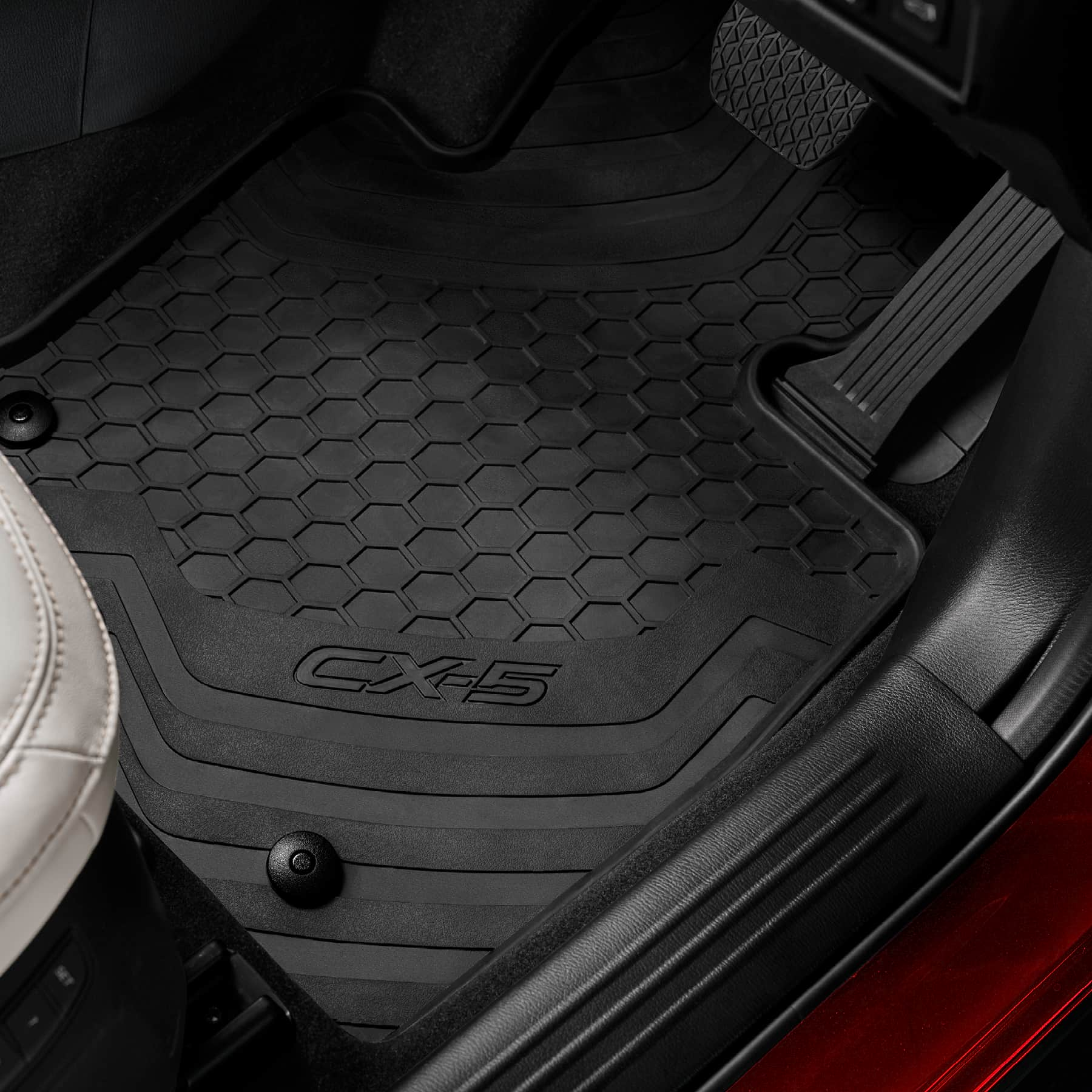 New Genuine Mazda Set Of 4 Rubber Floor Mats Kf Cx 5 Cx5 Kf11acfmr Ebay