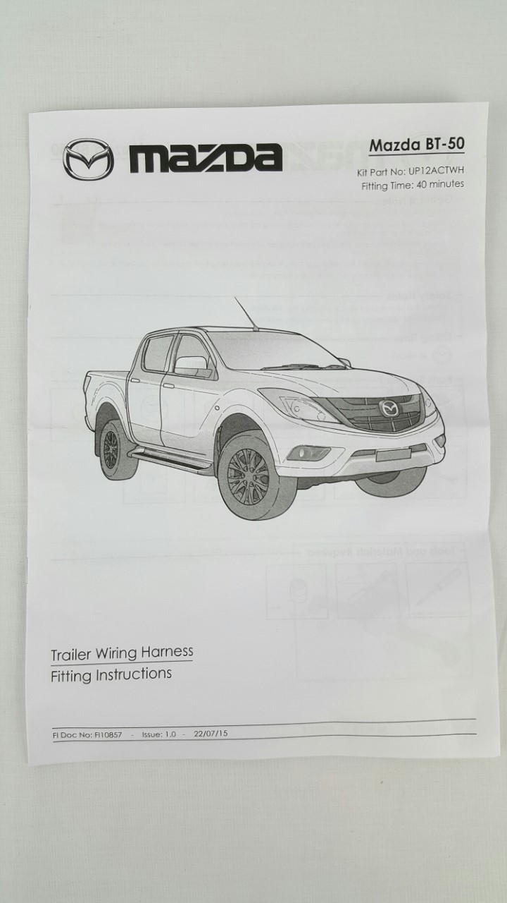 New Genuine Mazda Bt