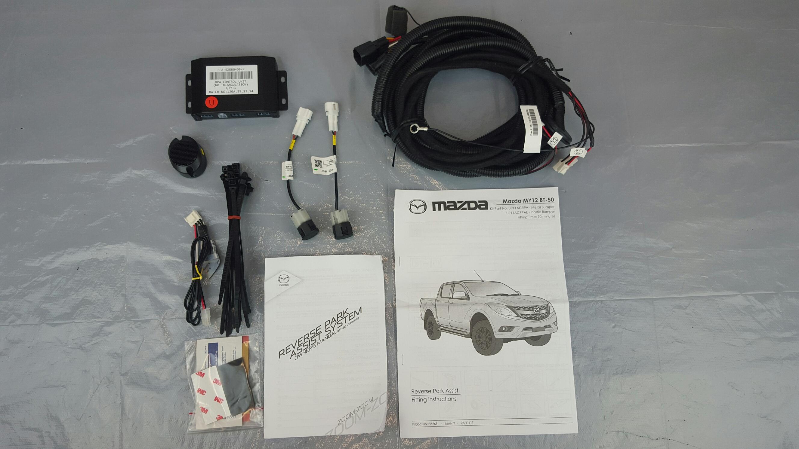 New Genuine Mazda BT-50 Reverse Parking Sensor Kit Metal UP11ACPRA ...