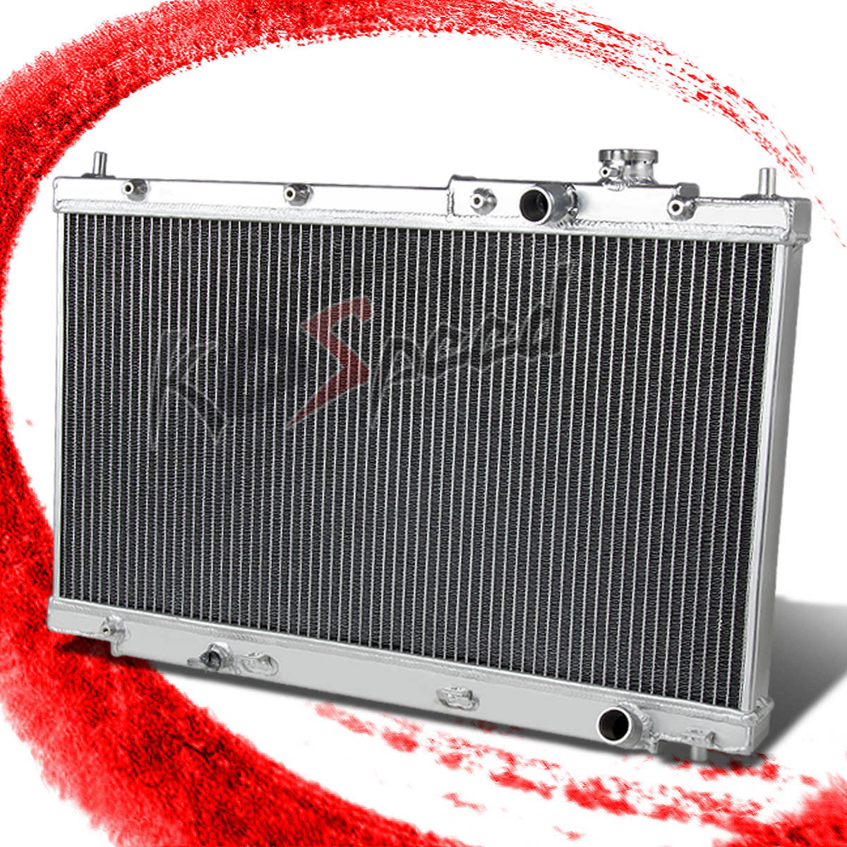 DUAL CORE RACING ALUMINUM 2-ROW RADIATOR FOR 01-05 CIVIC EX//LX//DX EM2 ES1 ES