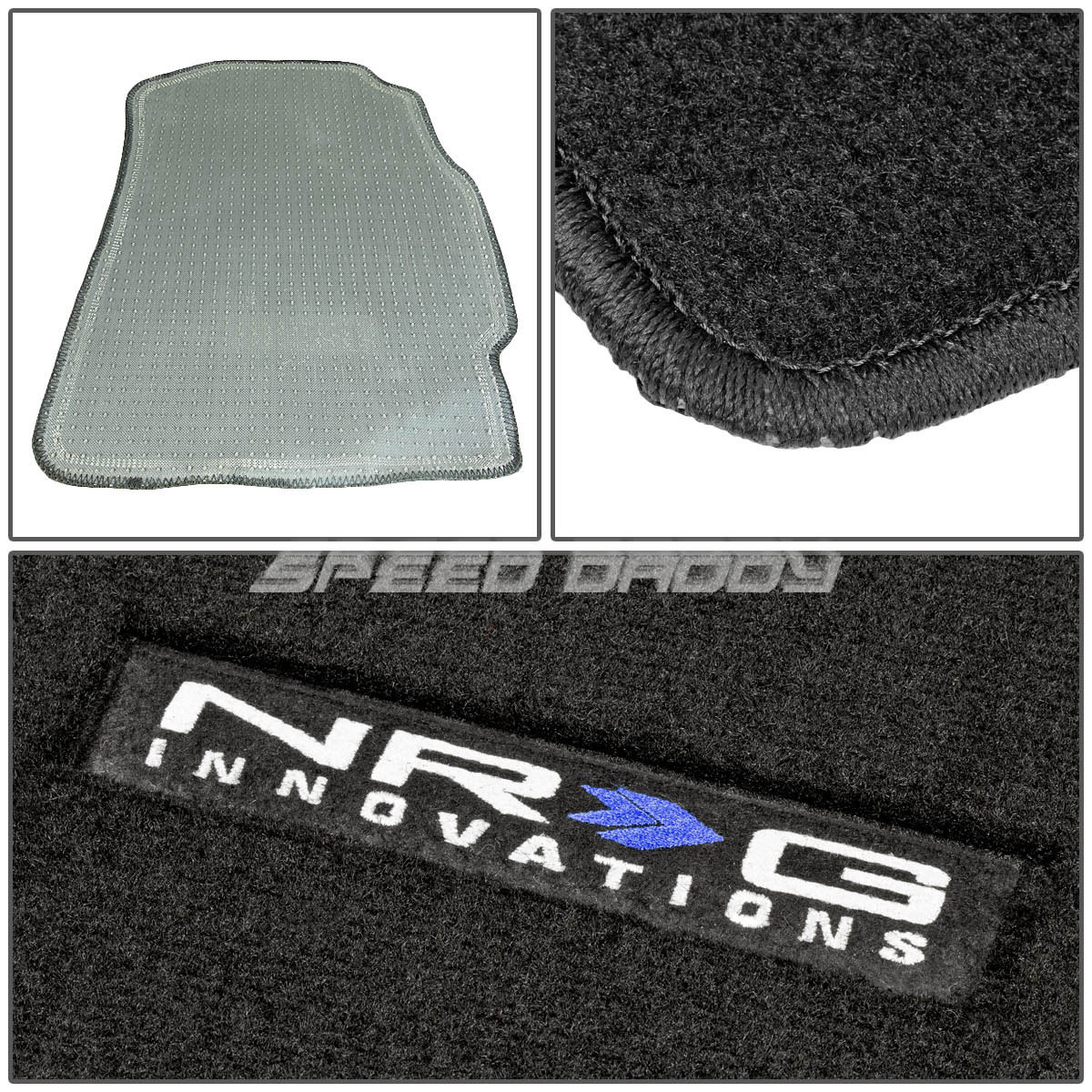 FOR 02-06 ACURA RSX K20 FIBER NYLON BLACK FLOOR MATS