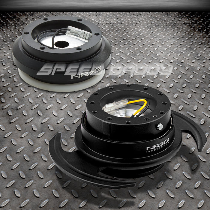NRG STEERING WHEEL HUB+GEN 3.0 BLACK QUICK RELEASE KIT FOR TOYOTA MR2//SCION tC