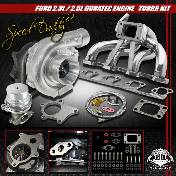 Turbo Kit Ranger 2 3: T04E 5-PC TURBO KIT TURBOCHARGER+SS MANIFOLD+WG 03-07 FORD