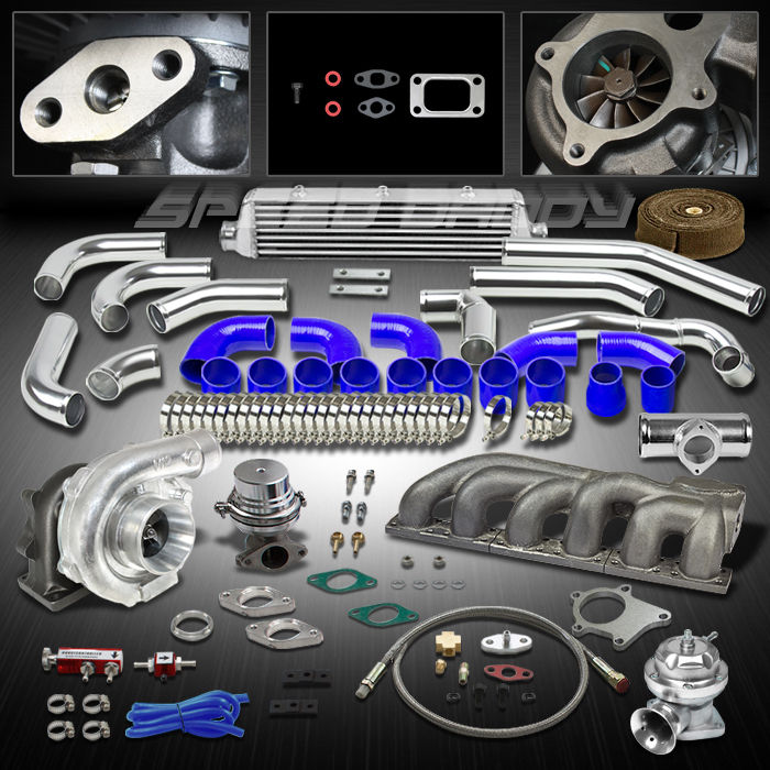t04e t3 10pc turbo kit turbocharger cast manifold. Black Bedroom Furniture Sets. Home Design Ideas