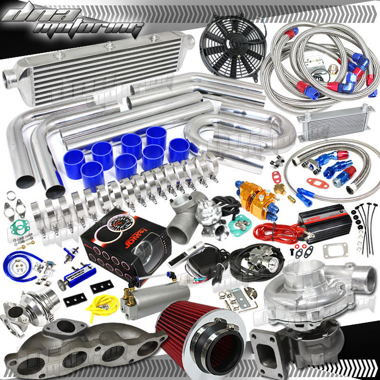 Details about EP3 CIVIC/DC5 RSX K20 T3 350+HPS BOOST MANIFOLD/COOLER FULL  TURBO/CHARGER KIT