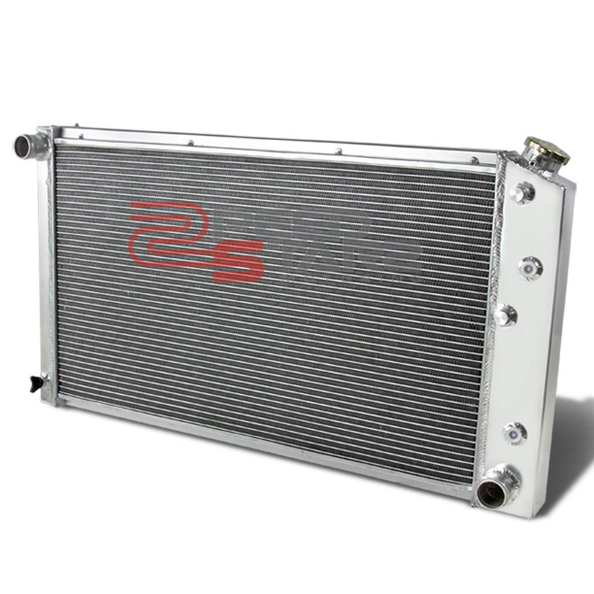 Aluminum Dual Core Two Row Racing Radiator For GMC C2500 Base//Sierra Chevy C20