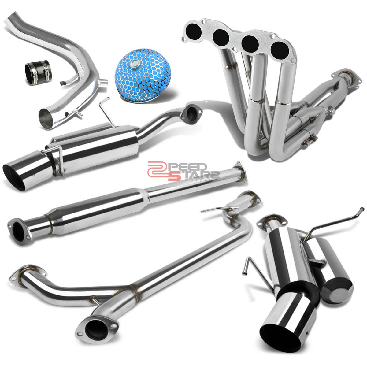 FOR ACURA TSX CL9 CATBACK EXHAUST+MANIFOLD TRI-Y HEADER