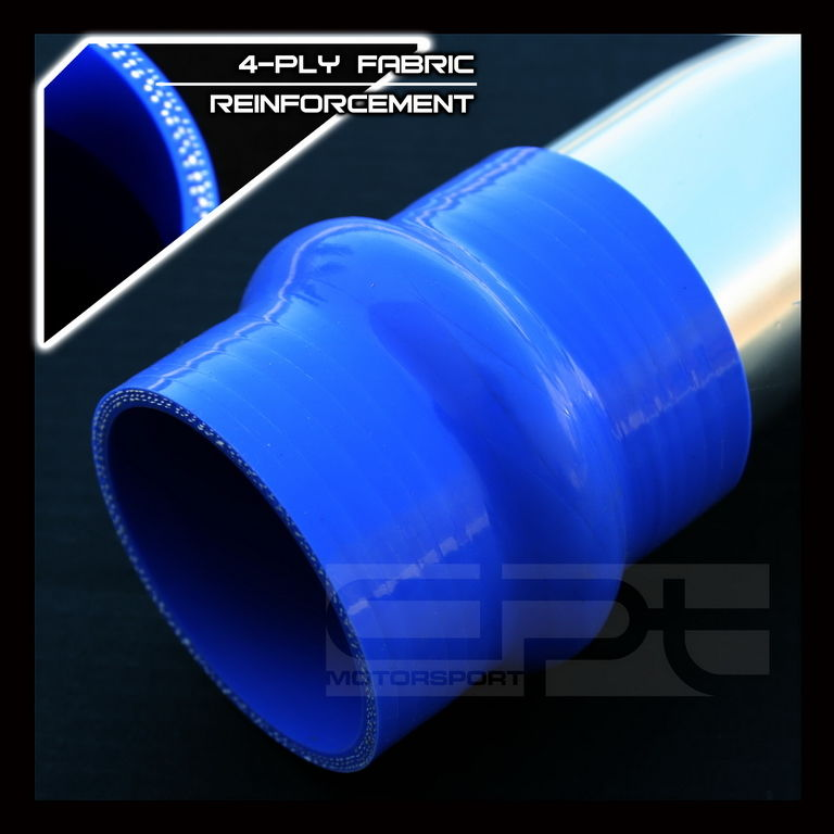 """OBX Reinforce Silicon Hump Coupler Hose 3.75/"""" Inch Blue"""