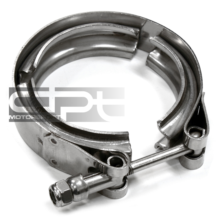 """4"""" STAINLESS V-BAND BOLT CLAMP FOR TURBO FLANGE DOWNPIPE ..."""