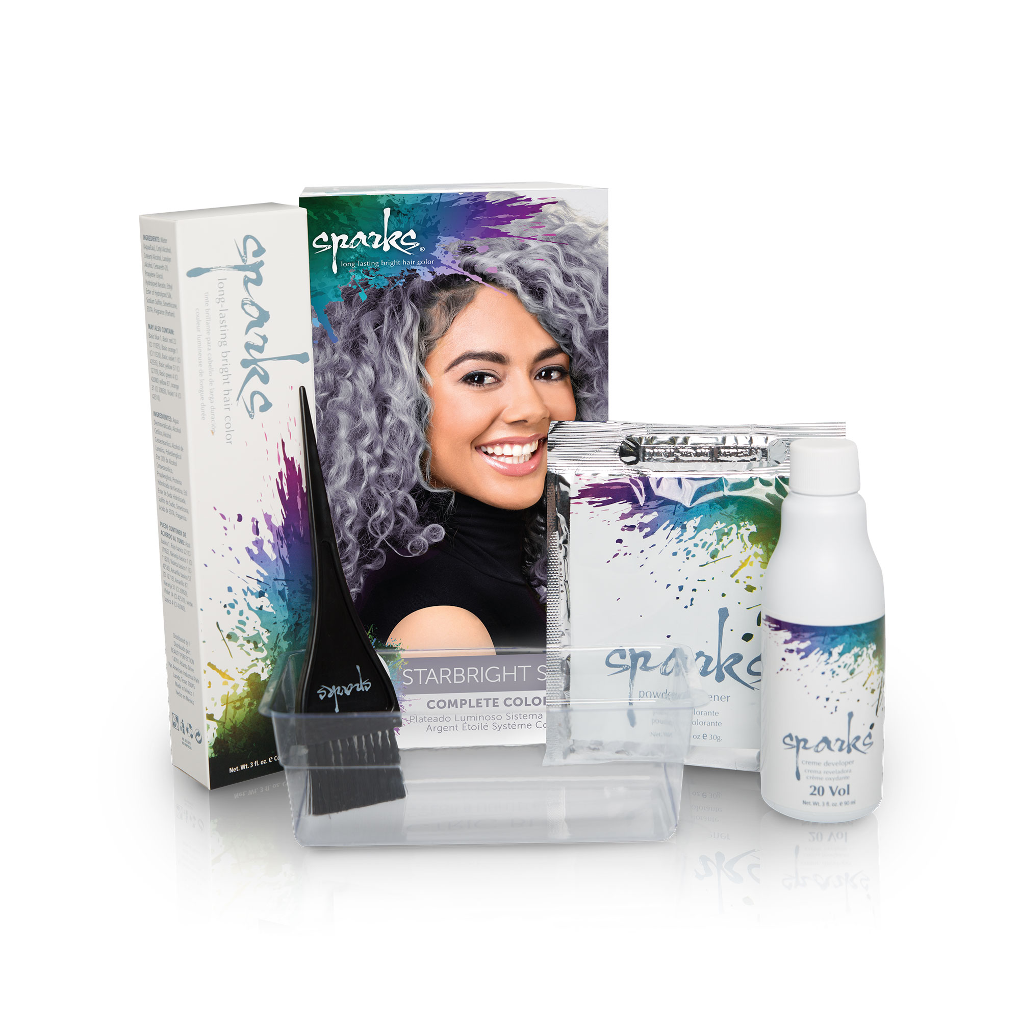 Sparks Complete Color Lightener System Hair Dye Kit Vibrant