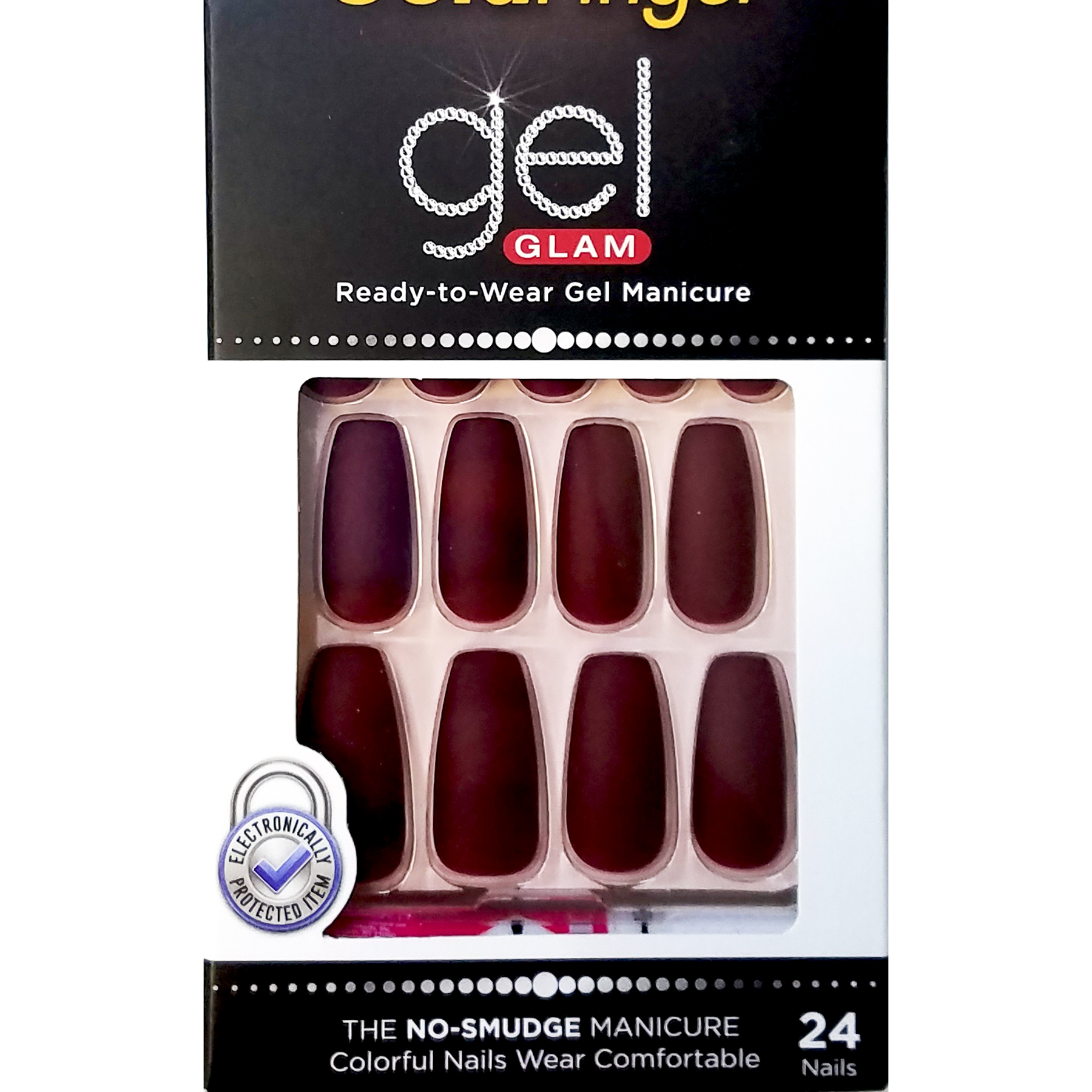 Details about KISS GOLD FINGER GEL GLAM MANICURE GLUE ON MATTE COFFIN 24 NAILS-GFC10 MAUVE