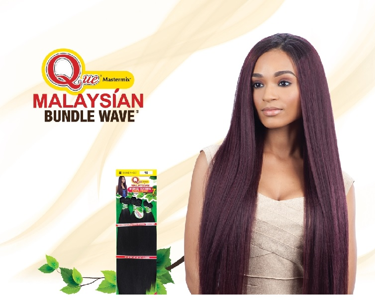 Que Malaysian Ironed Texture 7pcs 222426 Bundle Straight Human