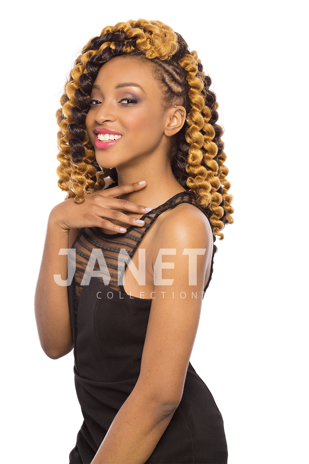 2x Mambo Bouncy Curl Braid 12 Janet Collection Crochet