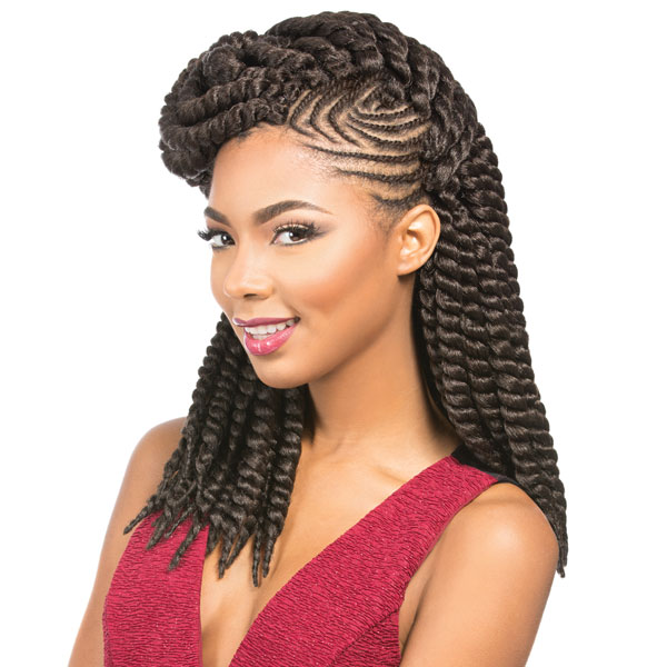 Sensationnel Synthetic Crochet Braiding Hair Rumba Twist 12 1b Off