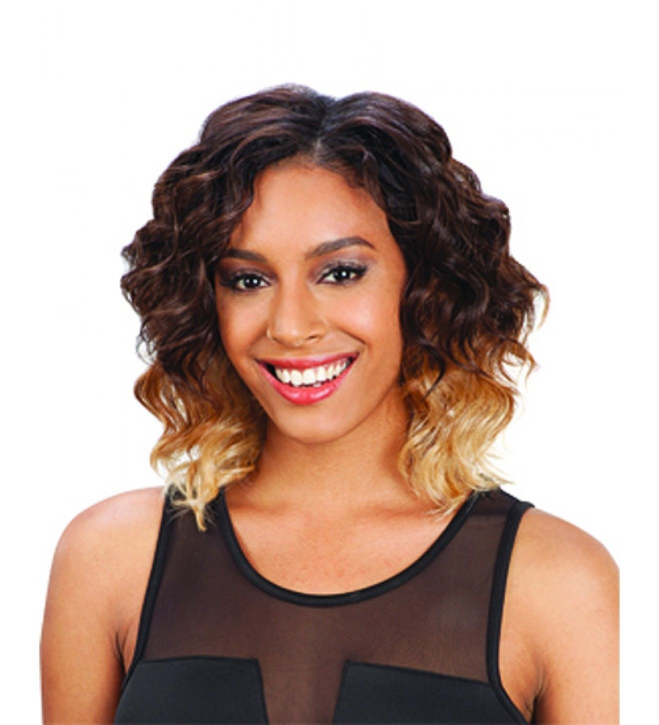 Attrak 5pcs Que By Milkyway Human Hair Blend Weave Extension Short