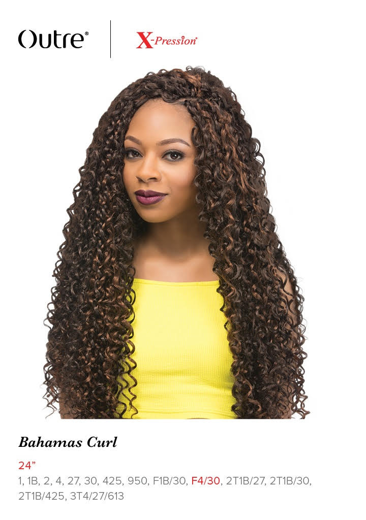 Bahamas Curl 24 Braid Outre X Pression Synthetic Crochet