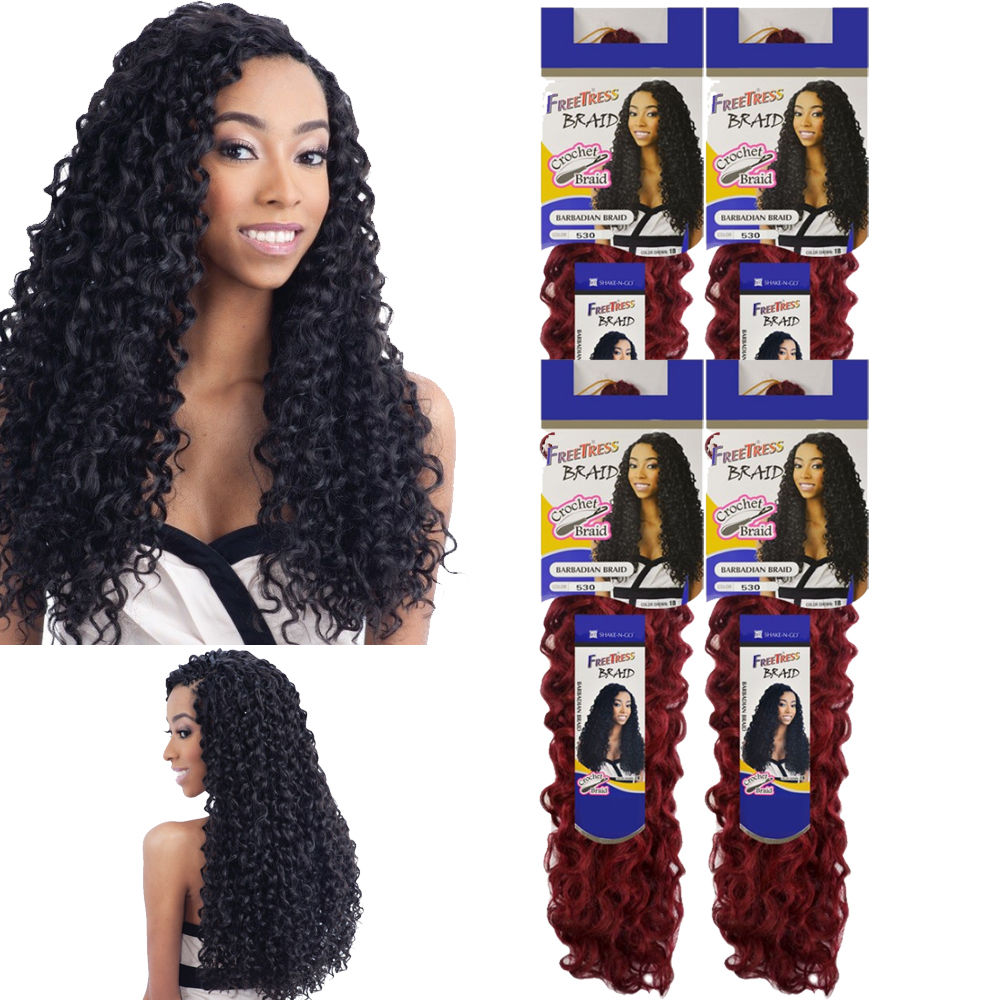 4 Pack 6 Pack Barbadian Braid Freetress Synthetic