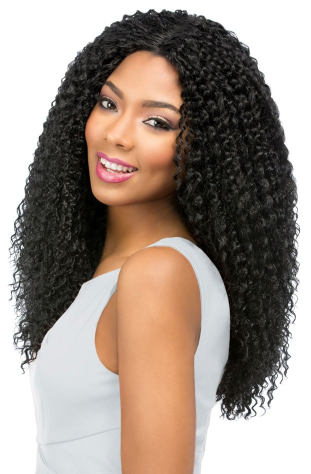 Beach Curl Sensationnel Synthetic Multi Parting Custom Lace Front