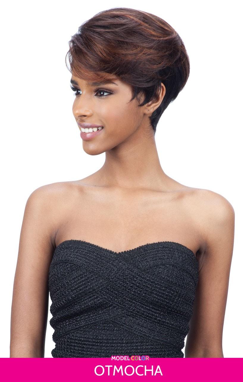 CHLOEE - MILKYWAY SAGA 100% REMY HUMAN HAIR WIG SHORT