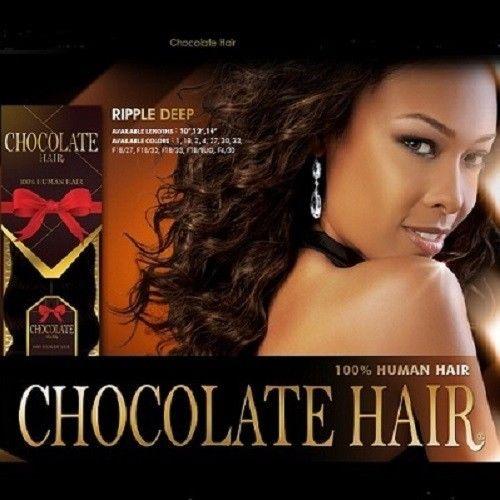 Chocolate Ripple Deep 100 Human Hair Wavy Weave Extension
