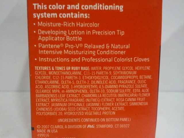 Clairol Textures Amp Tones Permanent Hair Color Dye Kit 1