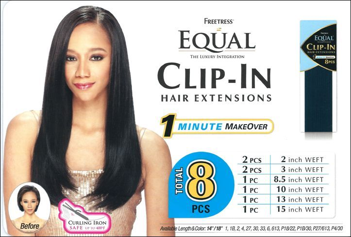 Clip In Hair Extensions 8pcs 14 18 By Freetress Equal Synthetic