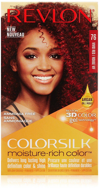 Revlon Colorsilk Moisture Rich Hair Color 76 Vivid Red Ebay