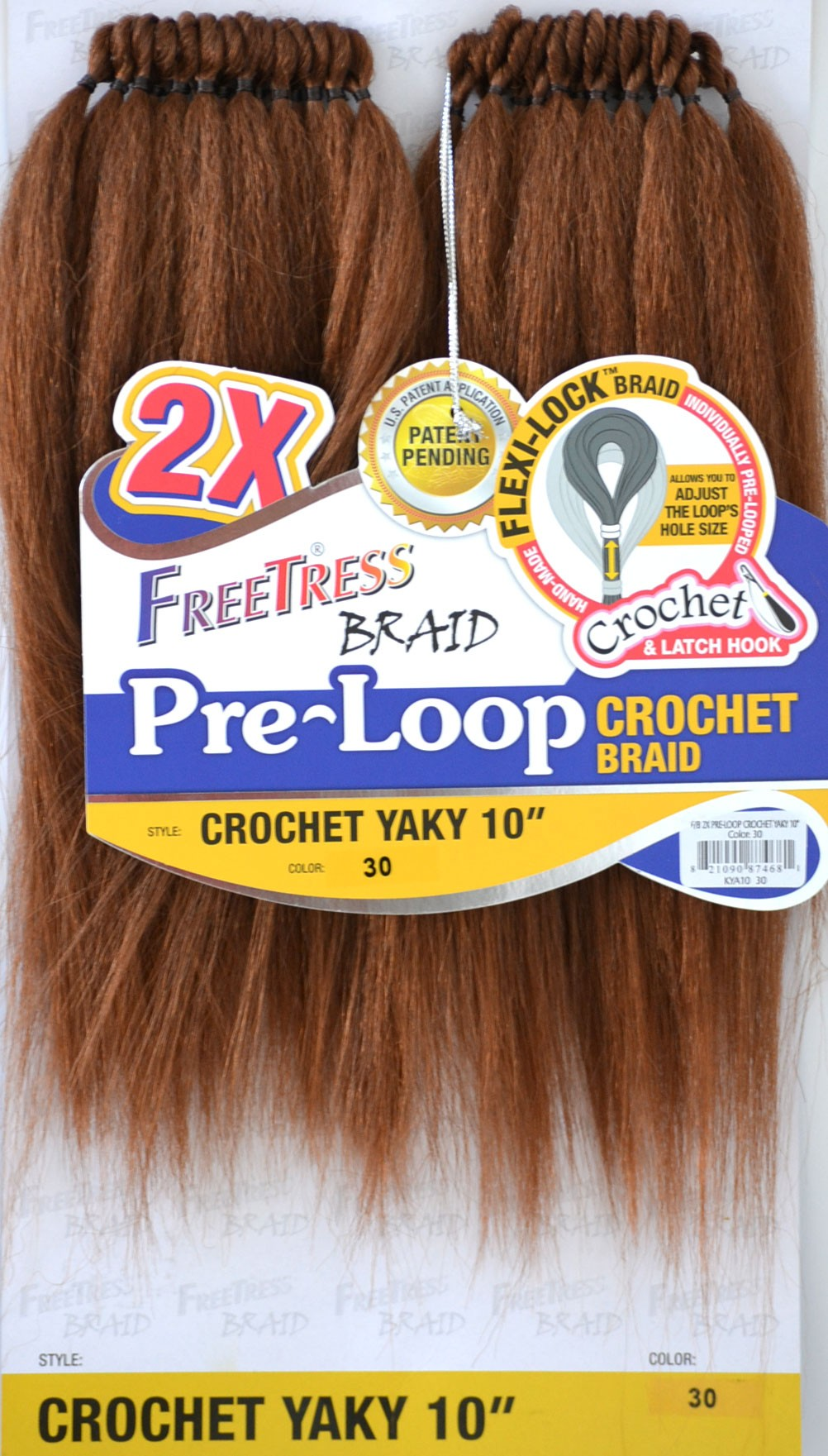2x Pre Loop Crochet Yaky 10 Quot Freetress Synthetic Braid