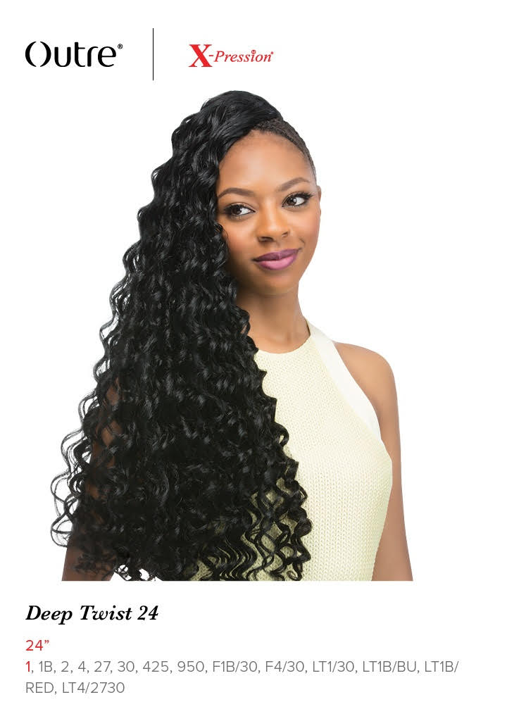 Outre X Pression Deep Twist 24 Synthetic Crochet Braiding Hair