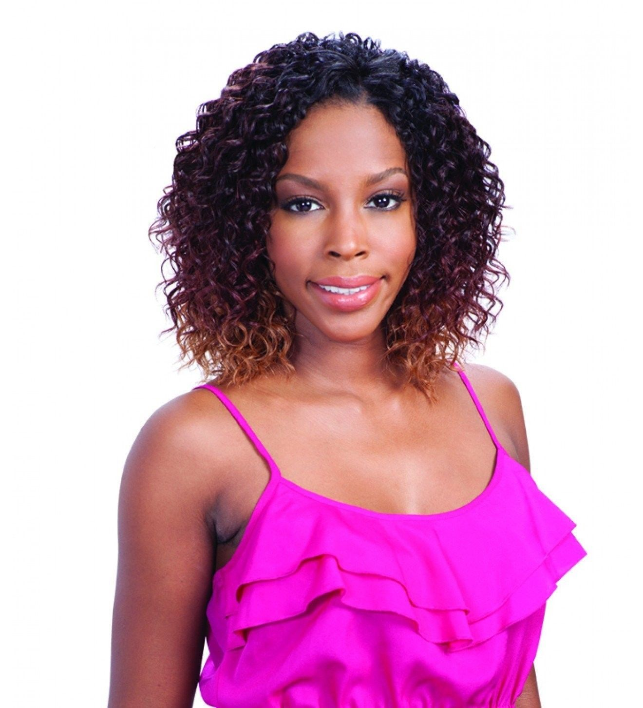 Ebony Curl 3pcs Que By Milkyway Human Hair Blend Mastermix Weave