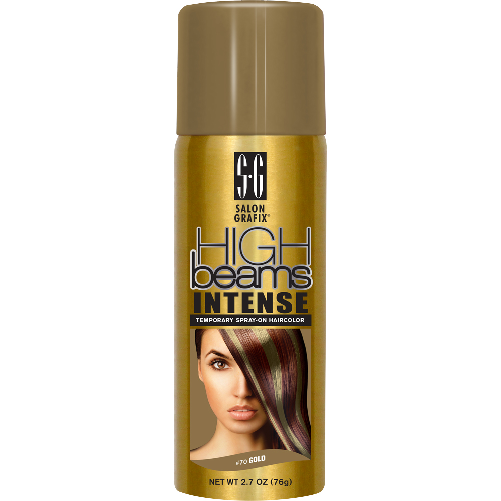 High Beams Intense Temporary Spray On Hair Dye Wash Out Color 70