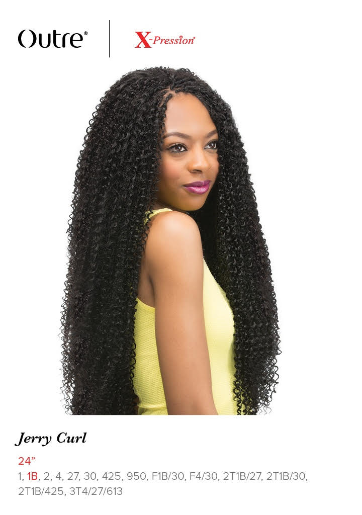 Jerry Curl 24 Quot Braid Outre X Pression Synthetic Crochet