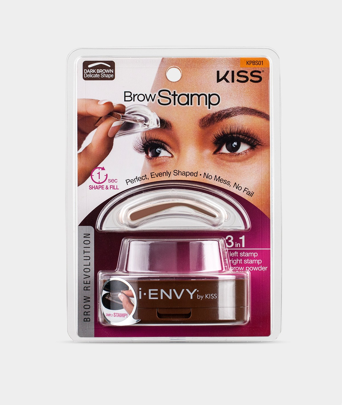 I Envy By Kiss Brow Stamp Powder Delicatenatural Shape Perfect