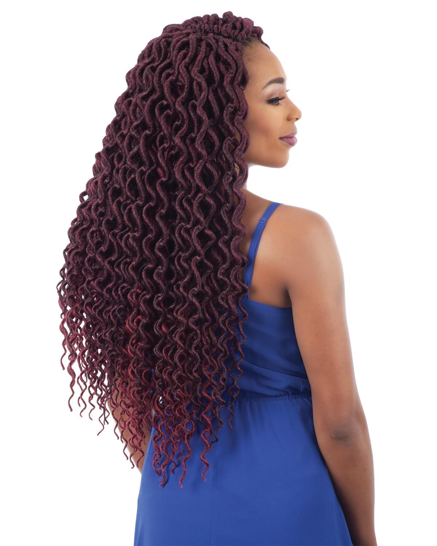 freetress braid 2x soft faux loc plumpy curly 20 inch color 1b