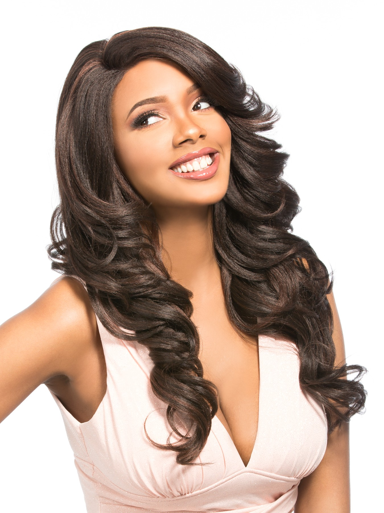 Mega Lace 126 Hair Topic Synthetic Deep L Part Lace Front Wig Big