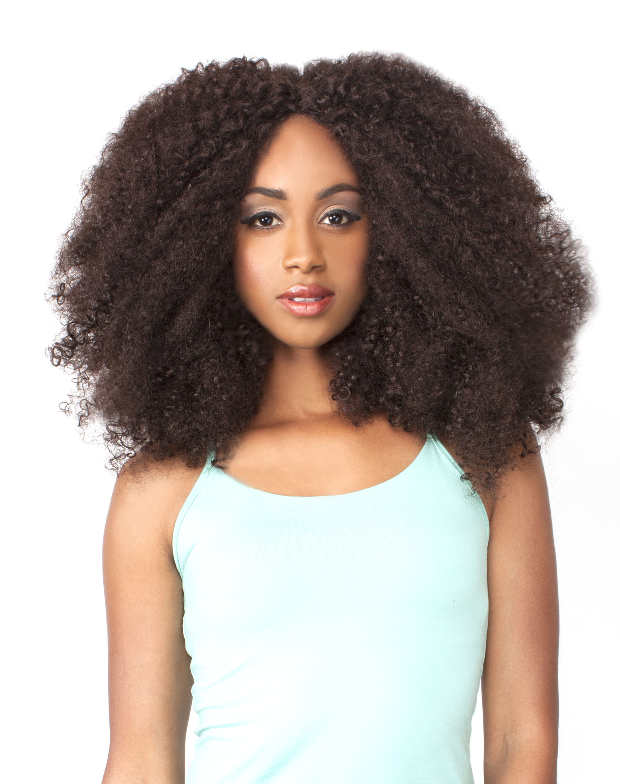 Lh Afro Kinky The Wig Brazilian Human Hair Blend