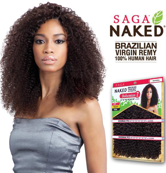 Bohemian 7pcs 14 16 18 Naked Brazilian Virgin Remy 100 Human