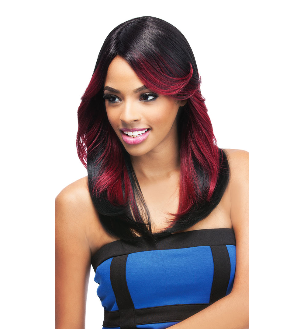 Kylie Outre Quick Weave Synthetic Full Cap Eco Wig Feathered