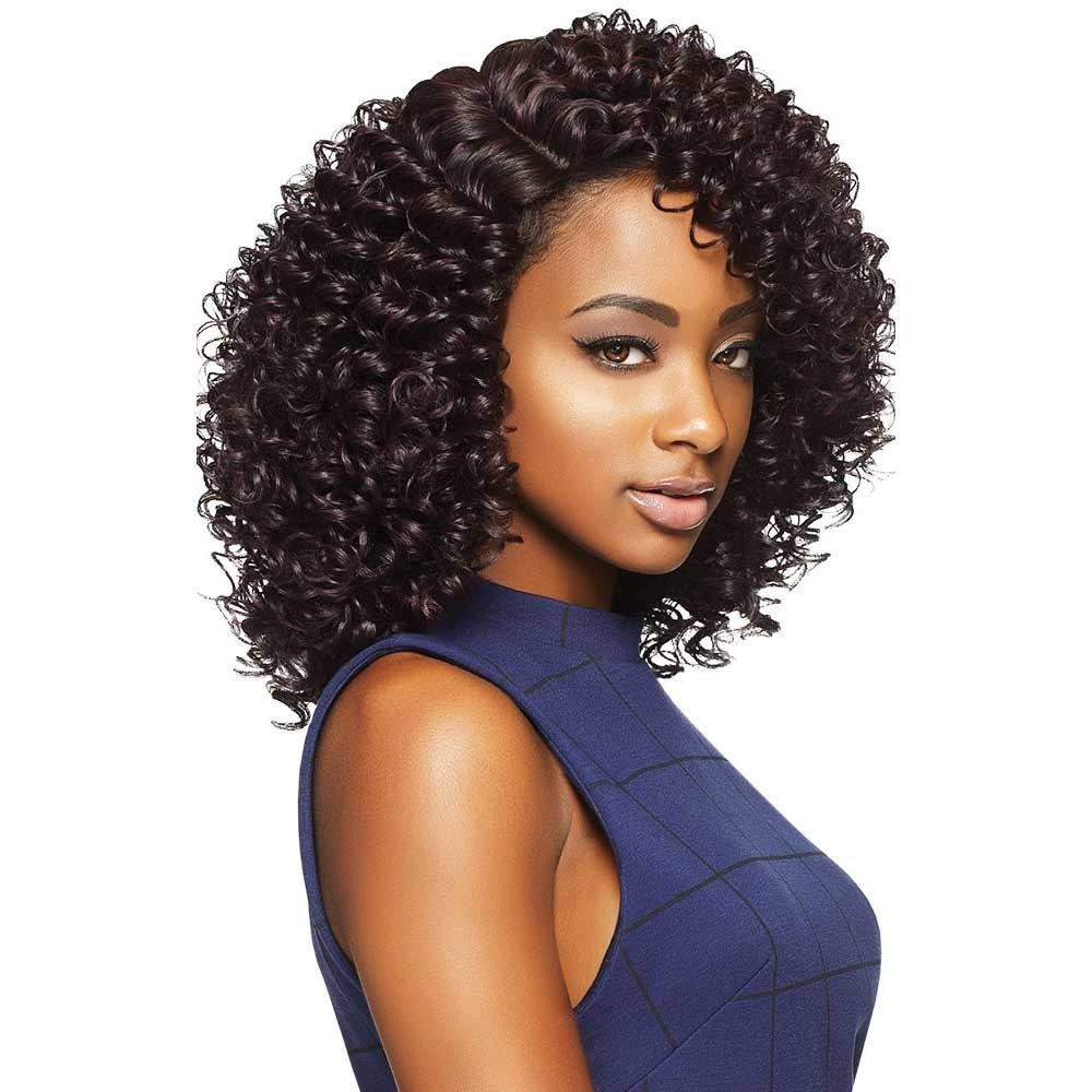 Jojo Outre Synthetic Quick Weave Complete Cap Wig Medium Curly