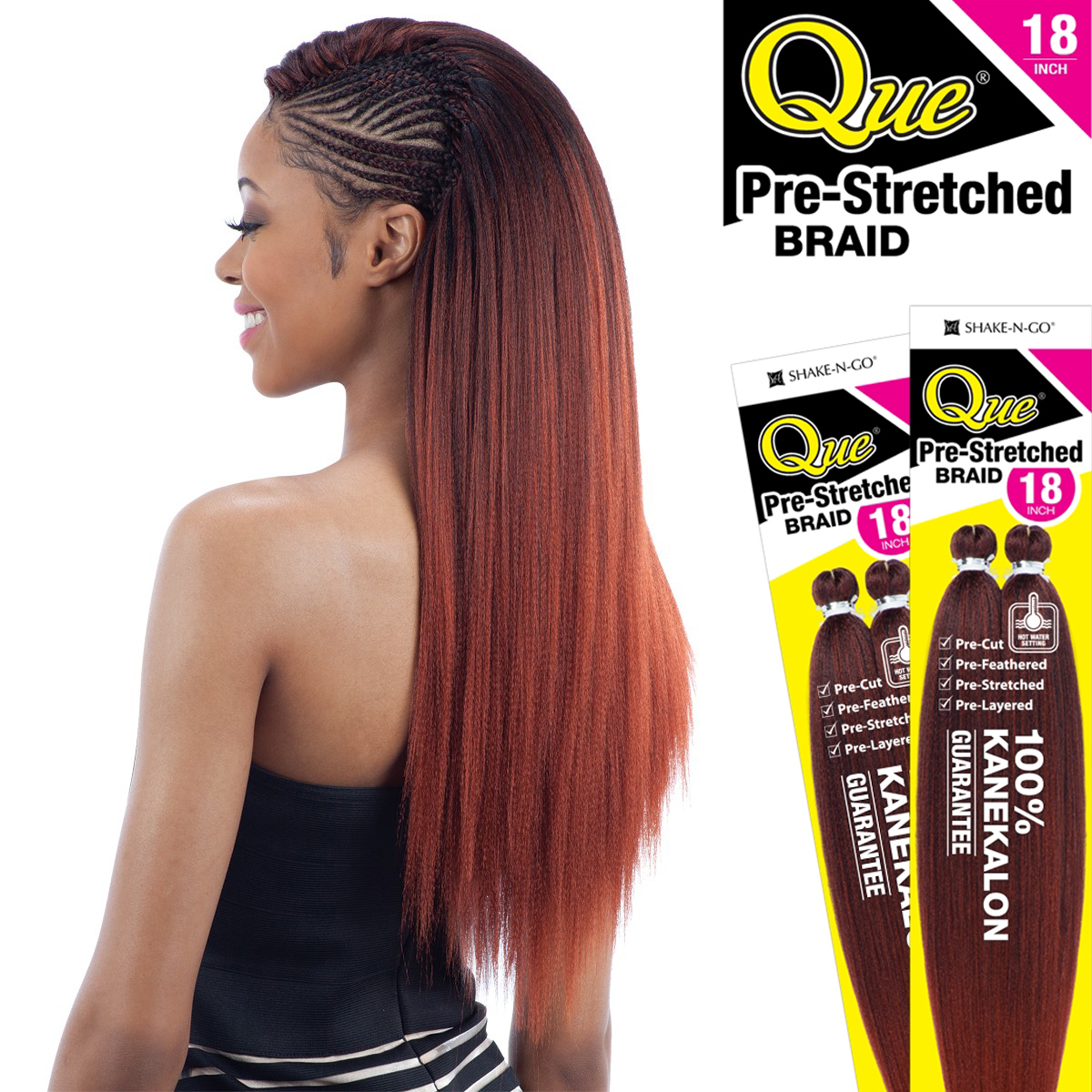 Pre Stretched Braid 18 Quot Que Synthetic 100 Kanekalon