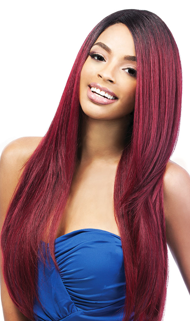 Natural Yaki 24 Outre Quick Weave Synthetic Eco Wig Straight Heat