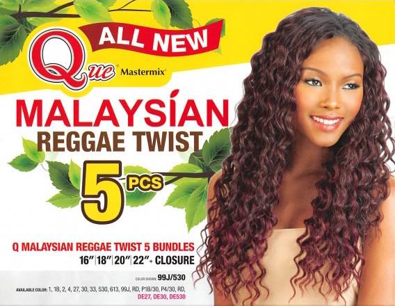 Que malaysian reggae twist 5pcs human hair blended weave extension que malaysian reggae twist 5pcs human hair blended pmusecretfo Images