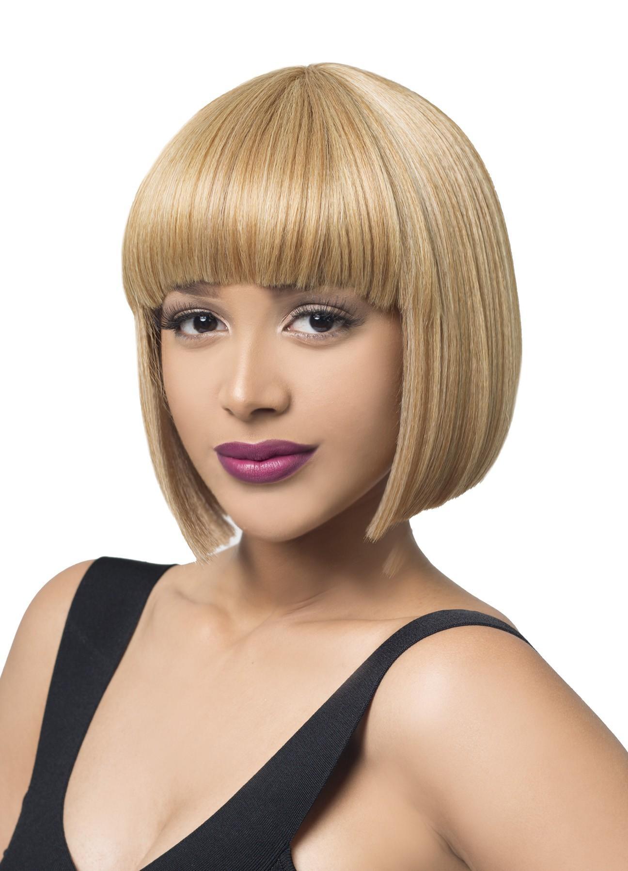 Mega Rihanna Hair Topic Synthetic Wig Short Bob Cleopatra Style