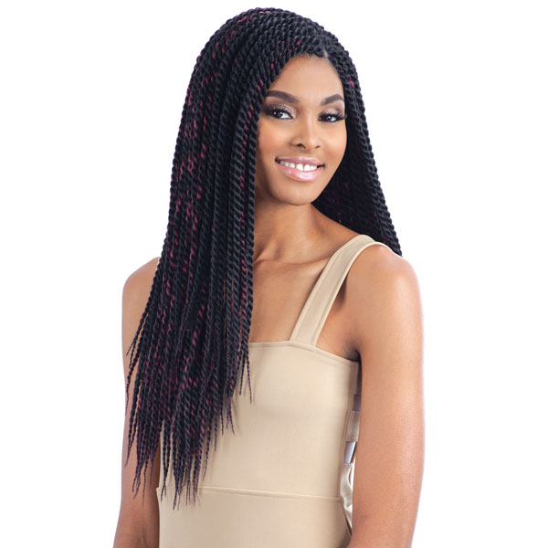 Senegalese Twist Large Model Model Glance Bulk Crochet Braiding