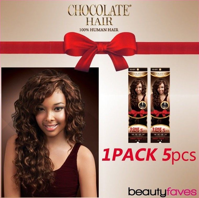 Sweet Twist 5pcs By Ever Chocolate 100 Human Hair Weave 10 10 12