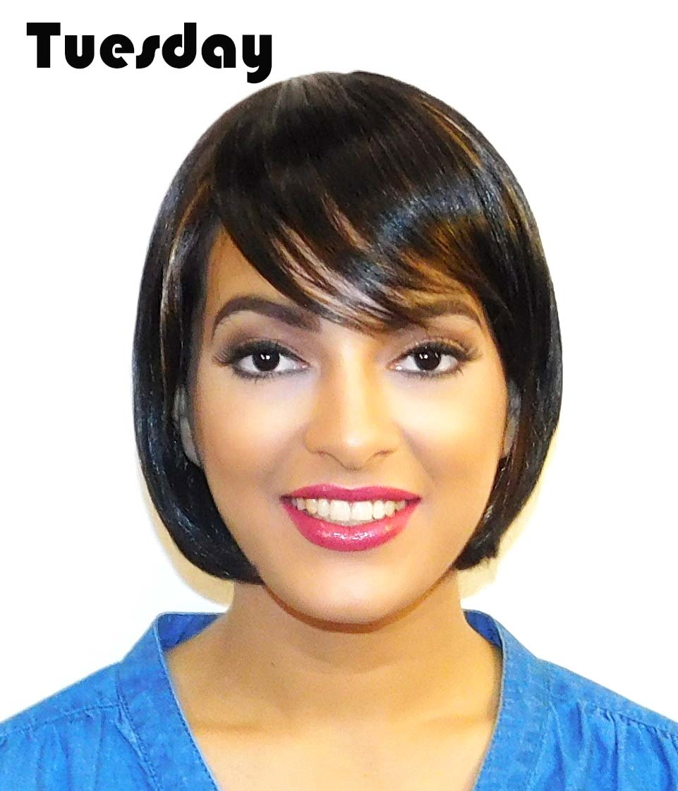 styling synthetic hair tuesday bob with front style heat resistant 8297