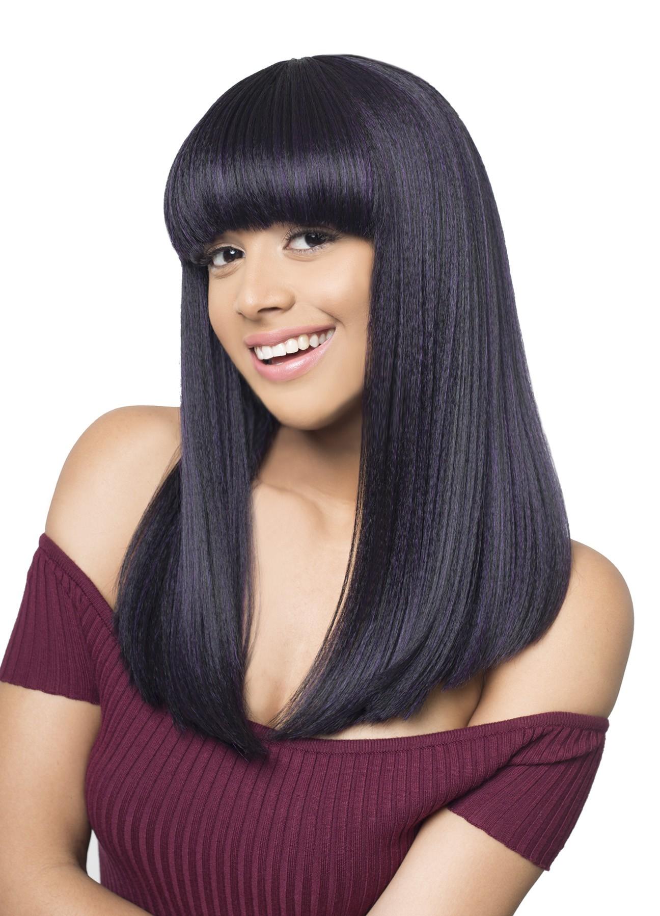 Mega Yuri Hair Topic Synthetic Full Wig Cleopatra Style Straight