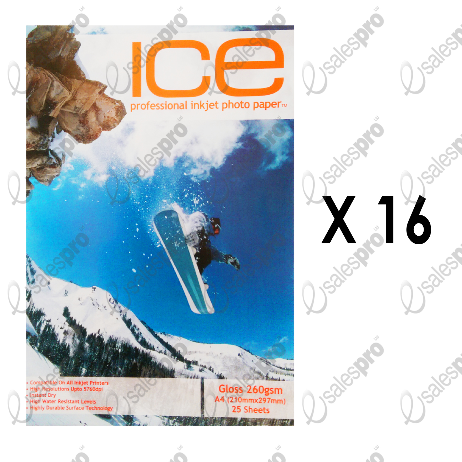 Photo-paper-GLOSS-Professional-quality-ICE-260gsm-Inkjet-Multi-qty-Deals