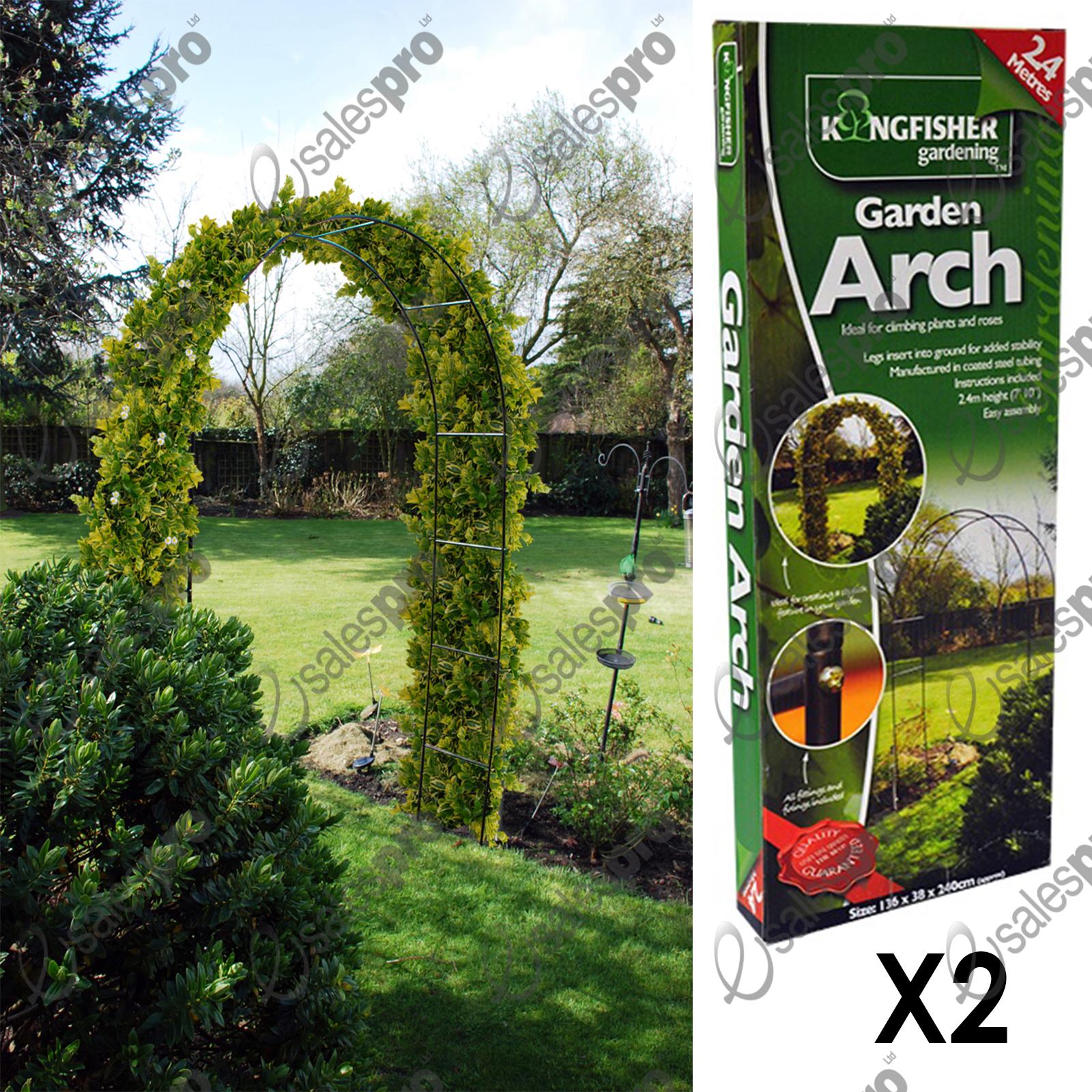 Garden arch trellis feature climbing plant roses 1