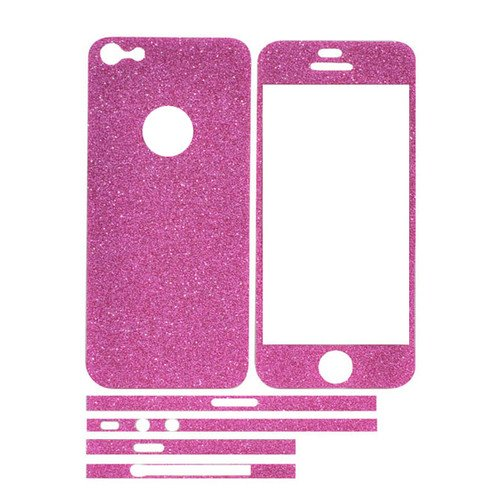 TCD-iPhone-4-4S-Sparkling-Glitter-Full-Body-Skin-Sticker-Film-with-Clear-Screen miniatuur 10